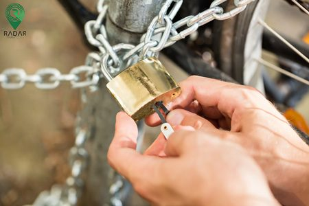 قفل زنجیری دوچرخه