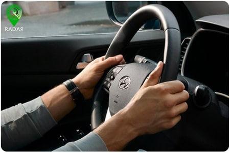 نحوه گرفتن فرمان برای کنترل خودرو